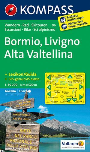 Kompass WK96 Bormio, Livigno, Valtellina