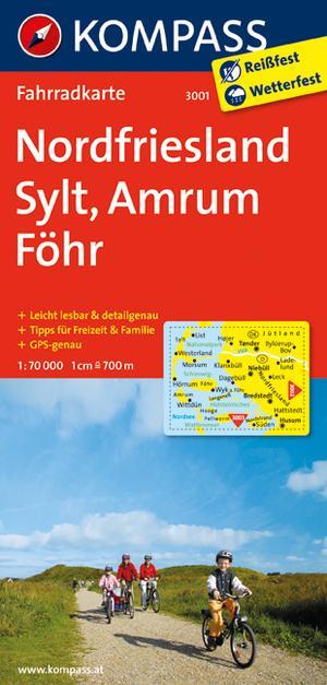 Kompass FK3001 Nordfriesland, Sylt, Amrum, Föhr
