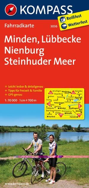Kompass FK3036 Minden, Lübbecke, Nienburg, Steinhuder Meer