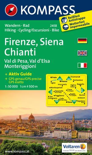Kompass WK2458 Florence, Siena, Chianti