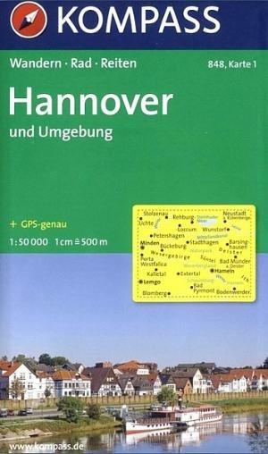 Kompass WK848 Hannover und Umgebung