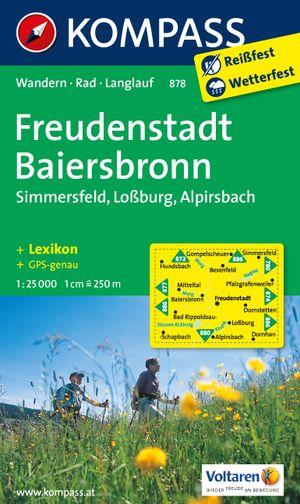 Kompass WK878 Freudenstadt, Baiersbronn, Simmersfeld, Lossburg, Alpirsbach