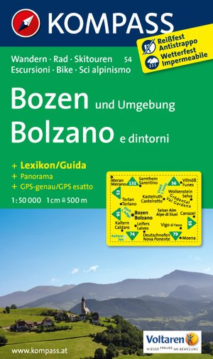 Kompass WK54 Bozen und Umgebung /Bolzano e dintorni