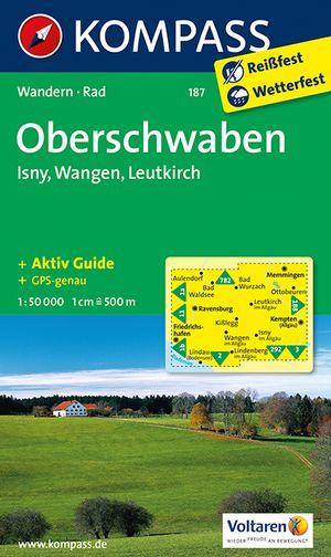 Kompass WK187 Oberschwaben, Isny, Wangen, Leutkirch
