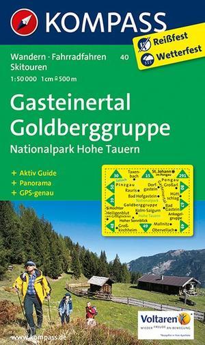 Kompass WK40 Gasteiner Tal, Goldberggruppe