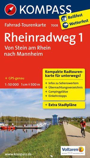 Kompass FTK7008 Rheinradweg 1, Von Stein am Rhein nach Mannheim