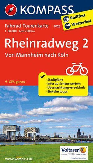 Kompass FTK7012 Rheinradweg 2, Von Mannheim nach Köln