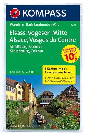 Kompass WK2221 Elzas/Vogezen Midden