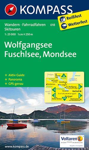 Kompass WK018 Wolfgangsee, Fuschsee, Mondsee
