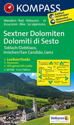Kompass WK58 Sextener Dolomiten