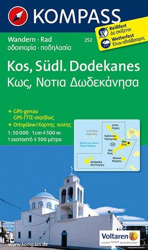 Kompass WK252 Kos, Südlicher Dodekanes