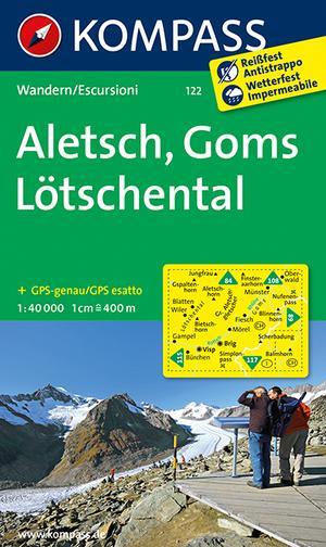 Kompass WK122 Aletsch, Goms