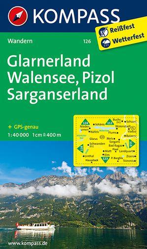Kompass WK126 Glarnerland, Walensee