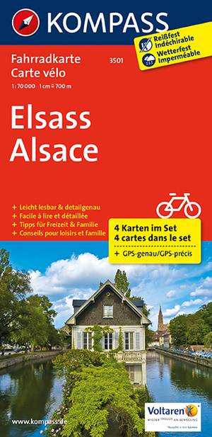 Kompass FK3501 Elsass / Elzas (4-delige set)