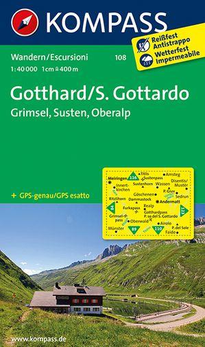 Kompass WK108 Gotthard, Grimsel Susten, Oberalp