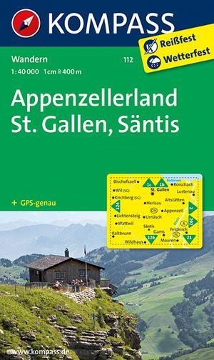 Kompass WK112 Appenzellerland, St.Galle, Säntis