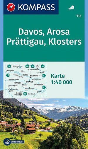 Kompass WK113 Davos, Arosa, Prättigau, Klosters