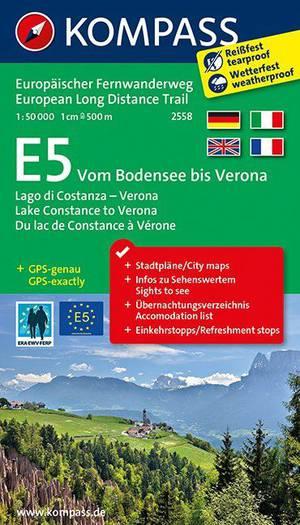 Kompass WTK2558 E5 Bodensee bis Verona