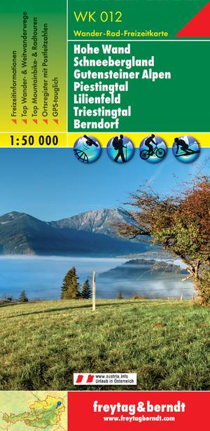 F&B WK012 Hohe Wand, Schneebergland, Gutensteiner Alpen, Piestingtal, Lilienfeld, Triestingtal, Berndorf