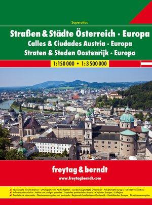 Oostenrijk straten- & stedenatlas; Europa Superatlas F&B