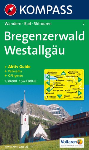 Kompass WK2 Bregenzer Wald, Westallgäu