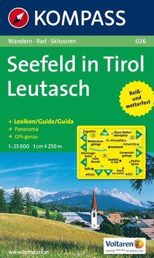 Kompass WK026 Seefeld in Tirol,  Leutasch