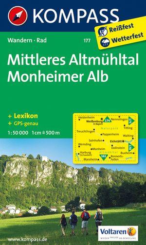 Kompass WK177 Mittleres Altmühltal, Monheimer Alb