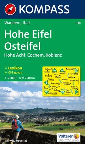 Kompass WK838 Hohe Eifel, Osteifel, Hohe Acht, Cochem, Koblenz