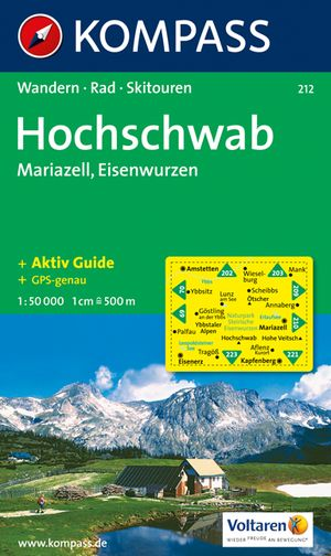 Kompass WK212 Hochschwab, Mariazell, Eisenwurzen