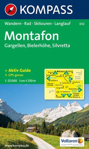 Kompass WK032 Montafon, Gargellen, Bielerhöhe, Silvretta