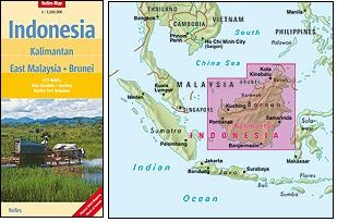Kalimantan East Malaysia Brunei 1:1,5m