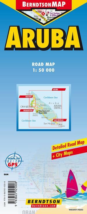 Wegenkaart Aruba