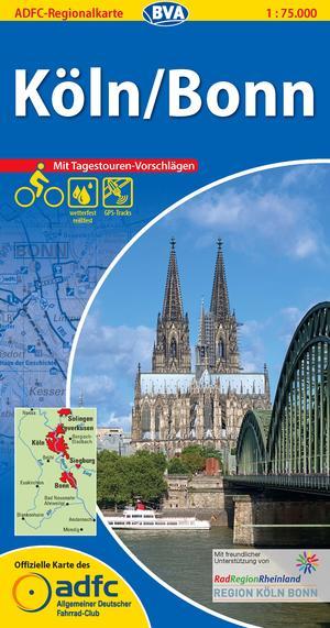Köln / Bonn fietskaart