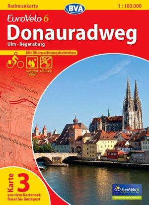 Eurovelo 6 - Ulm - Regensburg fietskaart