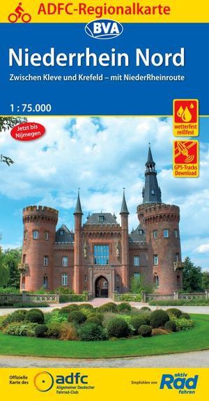 Niederrhein Nord fietskaart