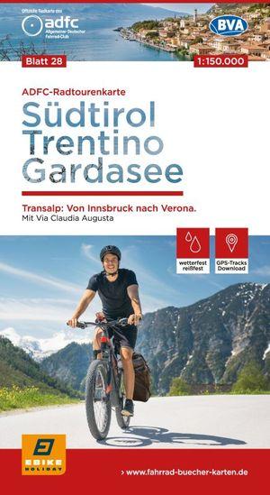 Südtirol,Trentino, Gardasee TRANSALP fietskaart