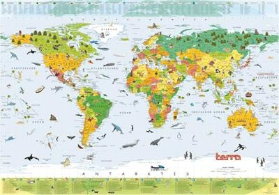 Terra Children's Worldmap Papier English