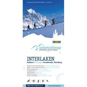 Snowtrail Map 16 Interlaken 1:50.000