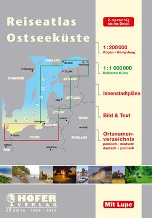 Ostseekuste Reiseatlas Oostzeekust Atlas 1:200.000