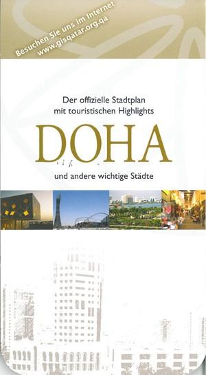 Qatar & Doha stadsplan (Duits)