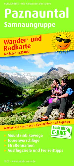 Paznauntal / Samnaungruppe wandel- & fietskaart