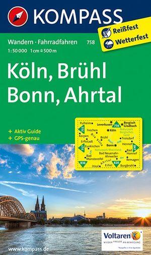 Kompass WK758 Köln, Brühl, Bonn, Ahrtal