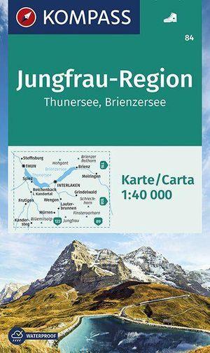 Kompass WK84 Jungfrau-Region, Thuner See, Brienzersee