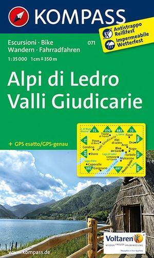 Kompass WK071 Alpi di Ledro, Valli Giudicarie