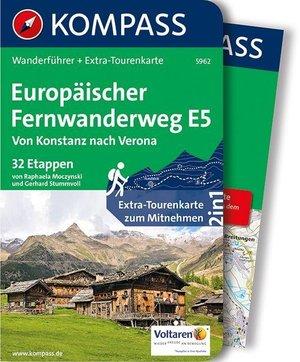 Europäischer Fernwanderweg E5, Von Konstanz Nach Verona Kompass wandelgids WF5962