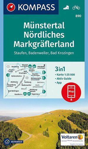 Kompass WK890 Münstertal, Nördliches Markgräflerland