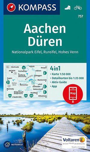 Kompass WK757 Aachen, Düren, Nationalpark Eifel, Rureifel, Hohes Venn