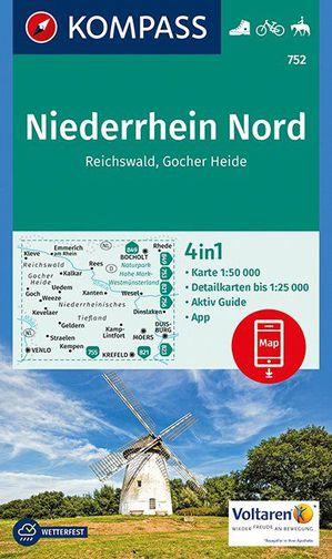 Kompass WK752 Niederrhein Nord, Reichswald, Gocher Heide