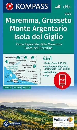 Kompass WK2470 Maremma, Argentario, Grosseto, Isola del Giglio