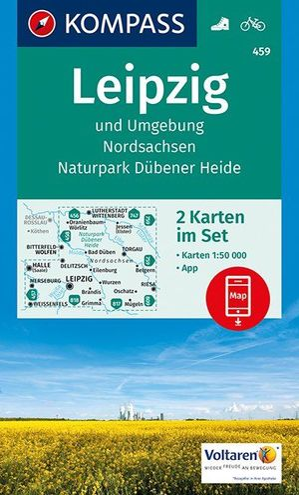 Kompass WK459 Leipzig und Umgebung, Nordsachsen, Naturpark Dübener Heide